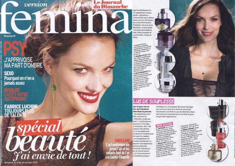 Version Femina, Octobre 2012