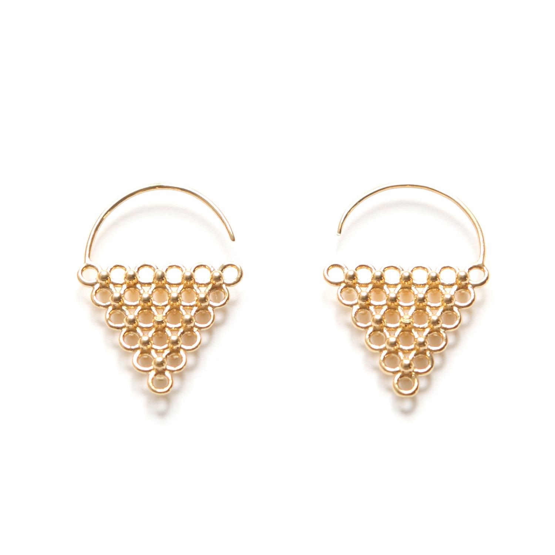 Boucles d'Oreilles Triangle Jali