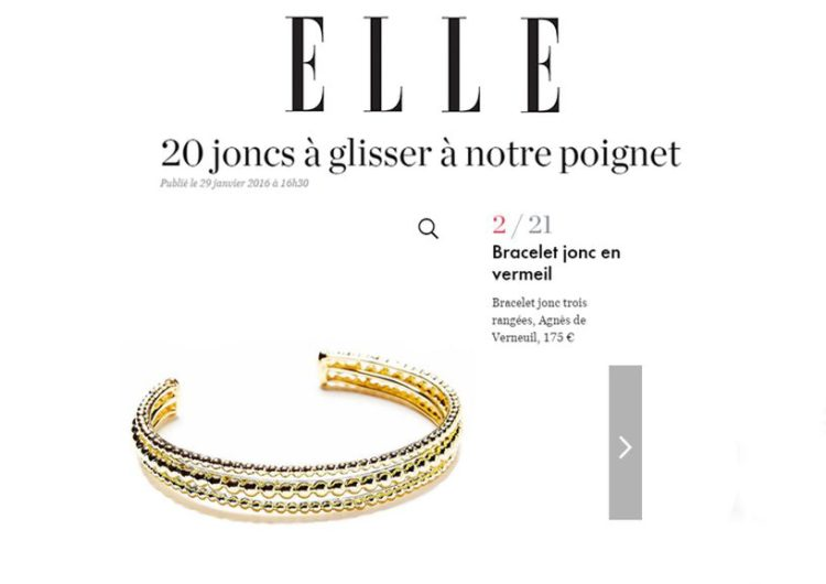 Elle.fr, Janvier 2016