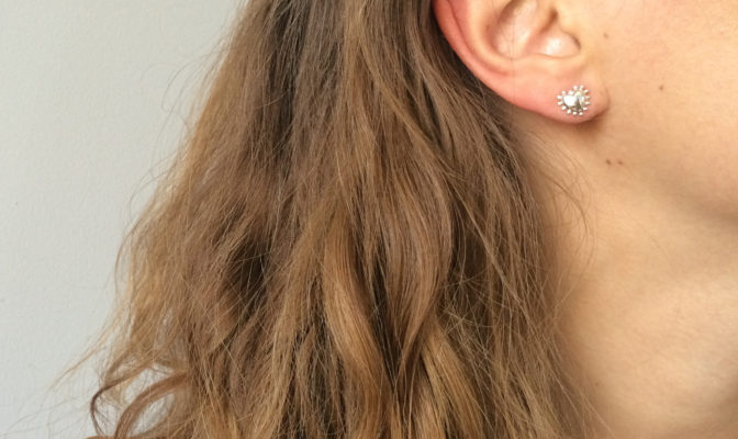 boucles d'oreilles puces argent bijou agnes de verneuil