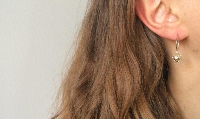 creoles boucles d'oreilles bijou vermeil agnes de verneuil coeur