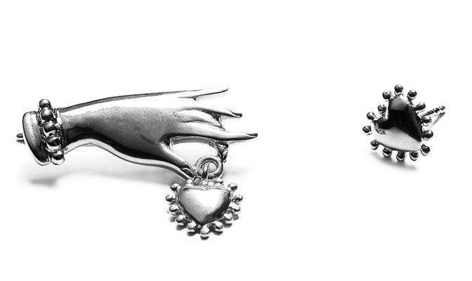 boucles oreilles argent Agnes de Verneuil AH2016