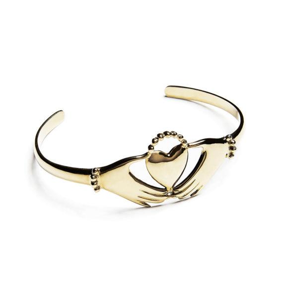 bracelet manchette doré claddagh Agnes de Verneuil AH2016