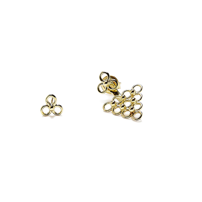 boucles dessous d 39 oreilles triangle jali bijoux agn s de. Black Bedroom Furniture Sets. Home Design Ideas