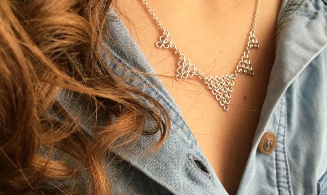 collier triangles agnes de verneuil