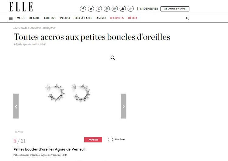 Elle.fr, Janvier 2017