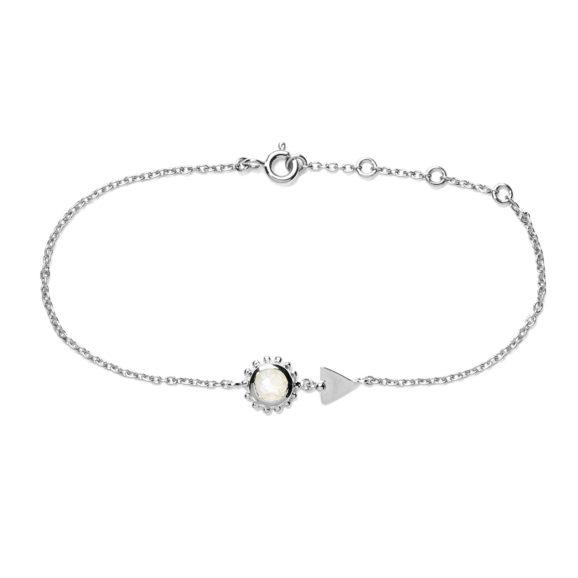 bracelet soleil et pierre argent pierre de lune