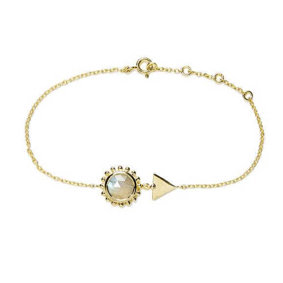 bracelet soleil et pierre vemeil labradorite