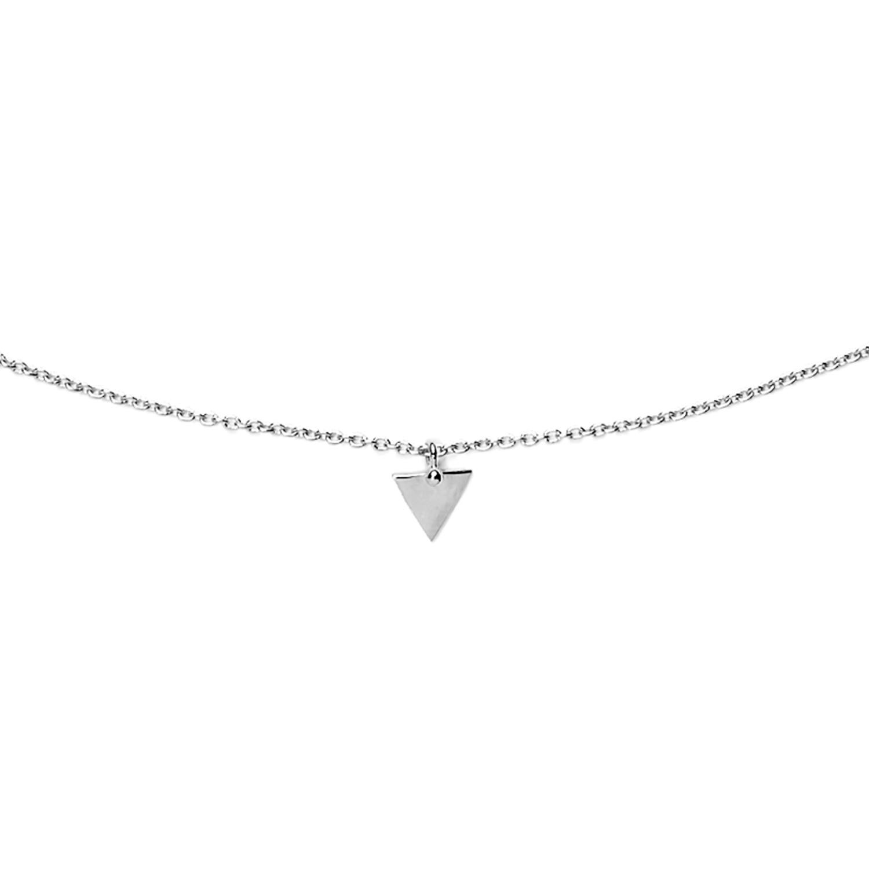 Collier triangle argent agnes de verneuil