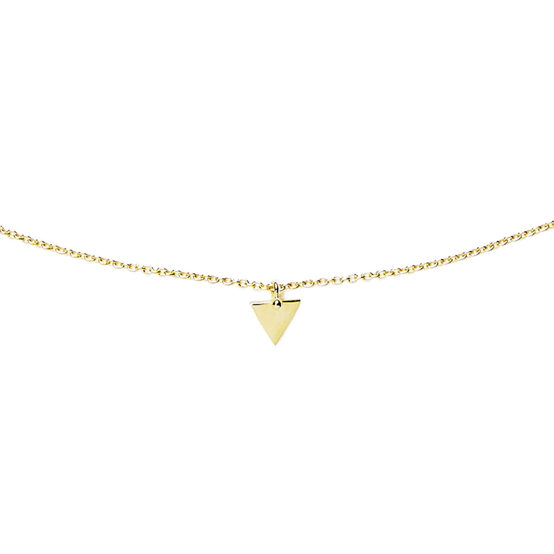 Collier triangle vermeil agnes de verneuil