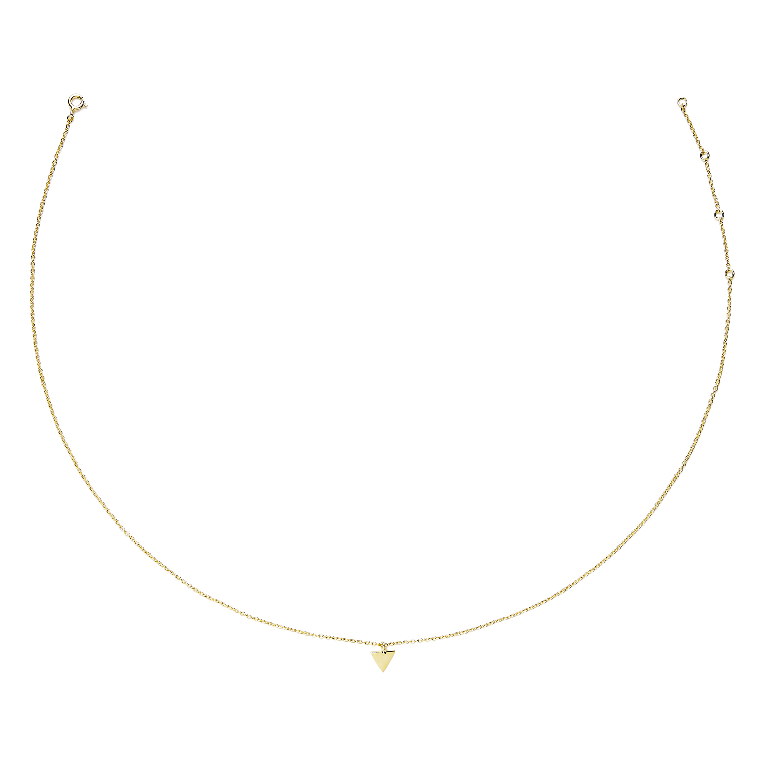 collier triangle vermeil