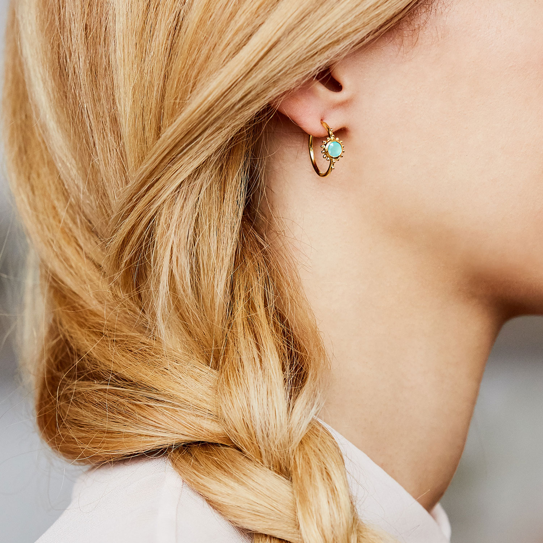 boucles d'oreilles vermeil