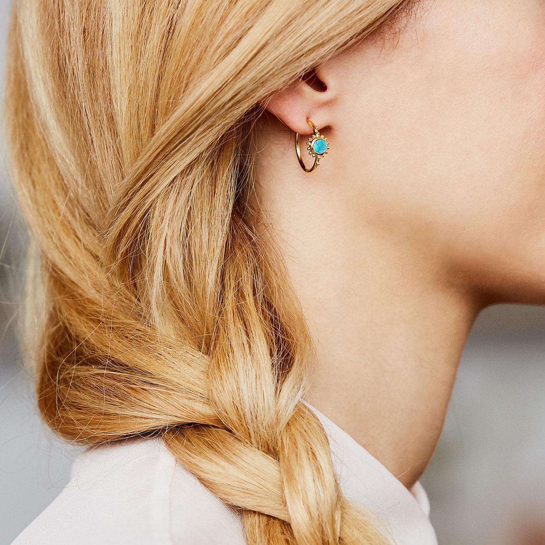 boucles d'oreilles vermeil turquoise