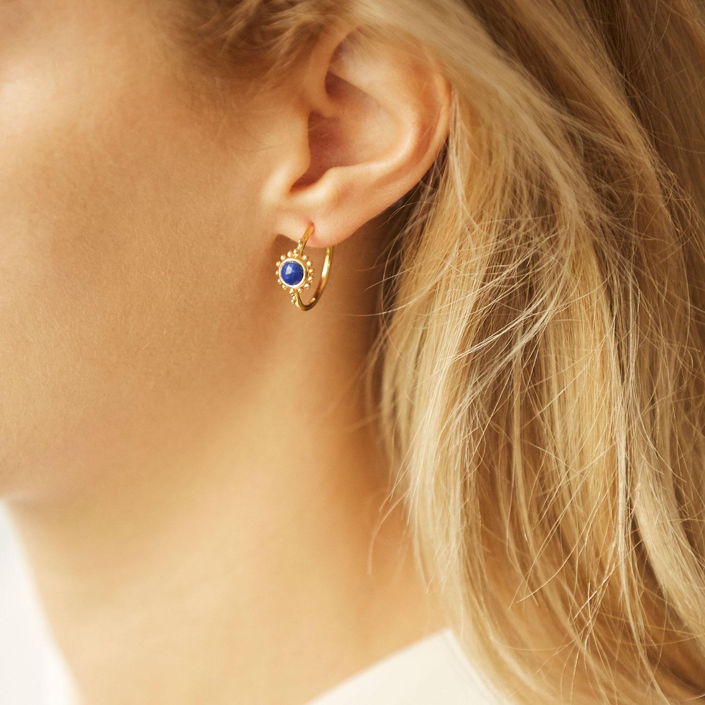 boucles d'oreilles vermeil bleu