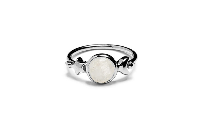 Bague Amulettes Argent pierre de Lune Agnes de Verneuil