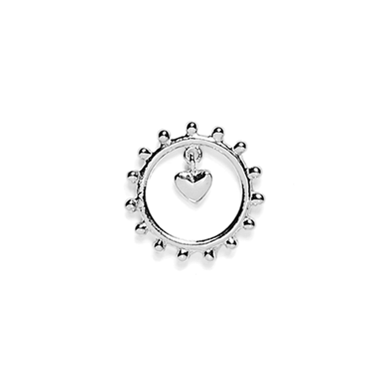 boucle d'oreille coeur argent agnes de verneuil