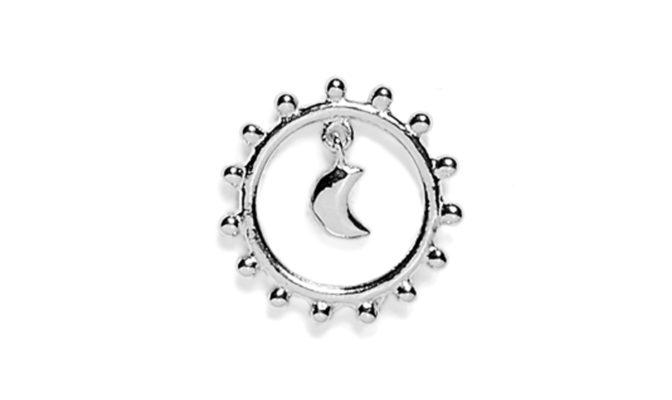boucle d'oreille lune argent agnes de verneuil