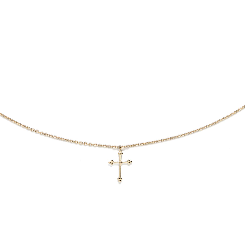 Collier Croix Vermeil Agnès de Verneuil