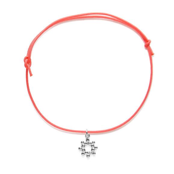P002A Bracelet-Fluo-Petit-Soleil-Argent