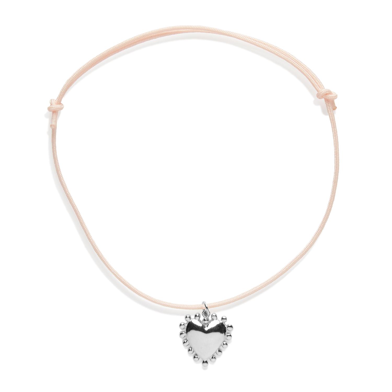 pendentif coeur cordon bijoux agnes de verneuil