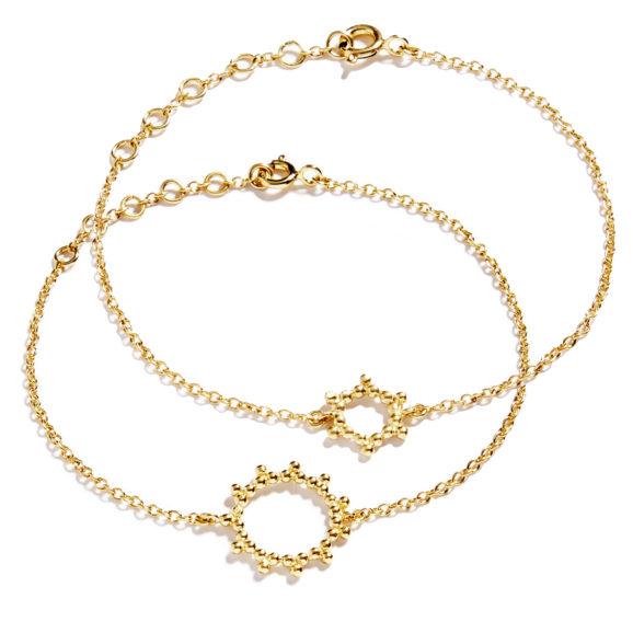 Bracelets soleils vermeil Bijoux Agnes de Verneuil