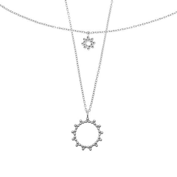 Colliers soleil argent Bijoux Agnes de Verneuil
