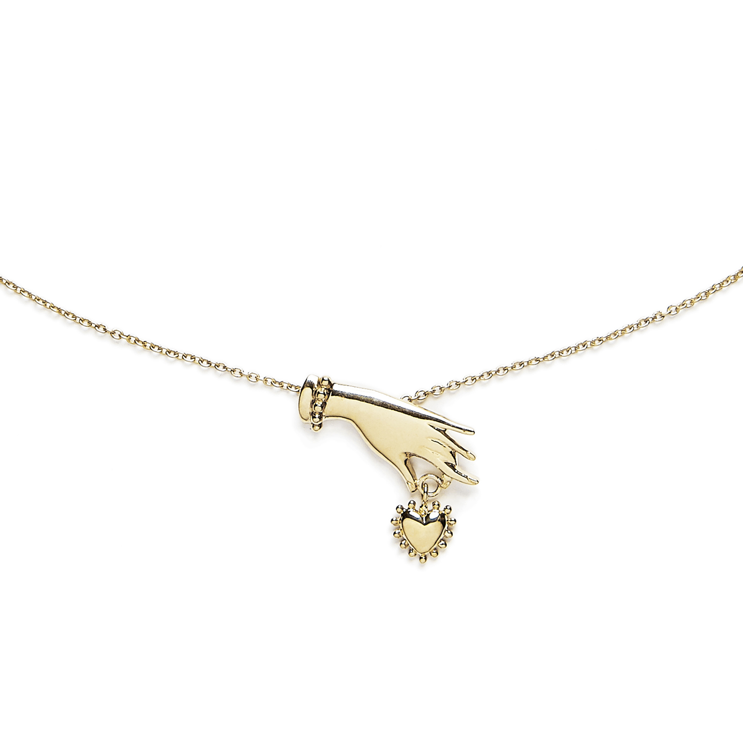 Necklace Hand and Heart - Agnes de Verneuil Jewellery 9b24a07335a
