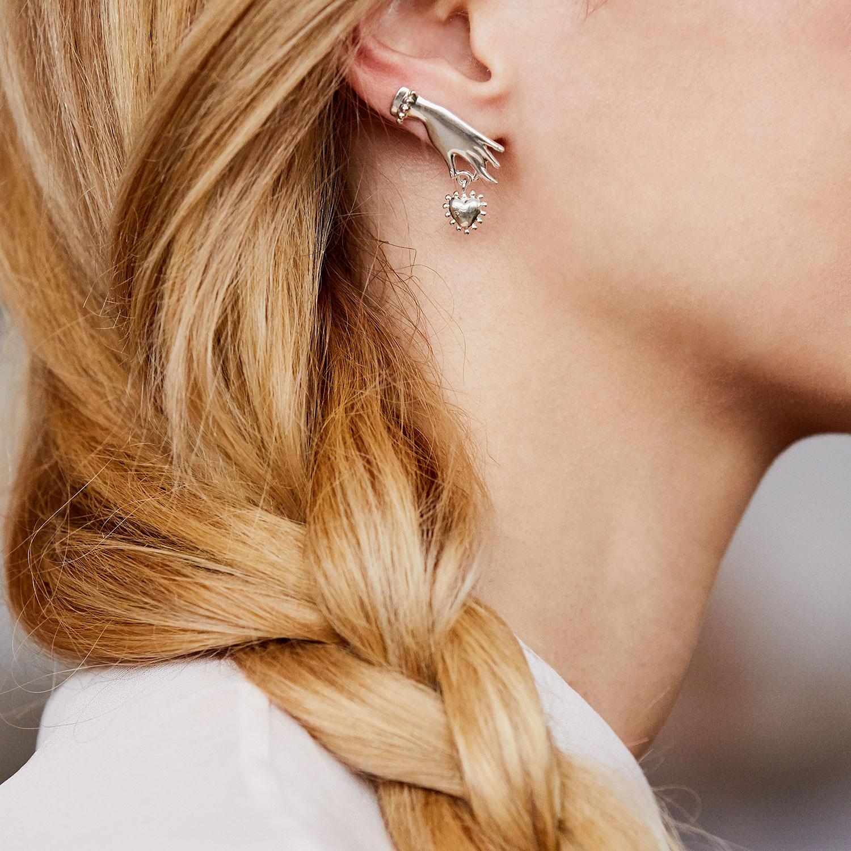 boucles oreilles argent Agnes de Verneuil