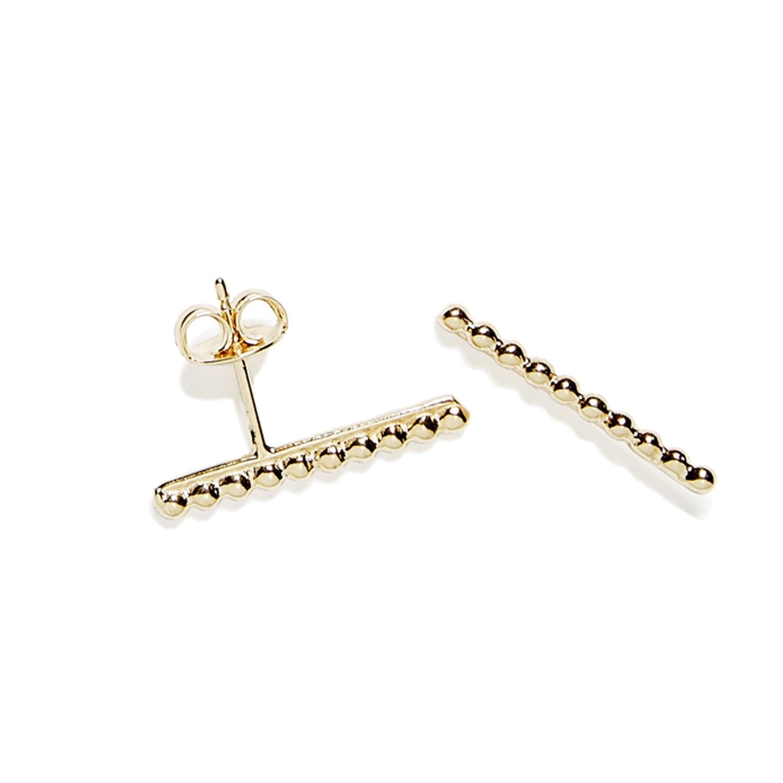 puces ligne de perles vermeil