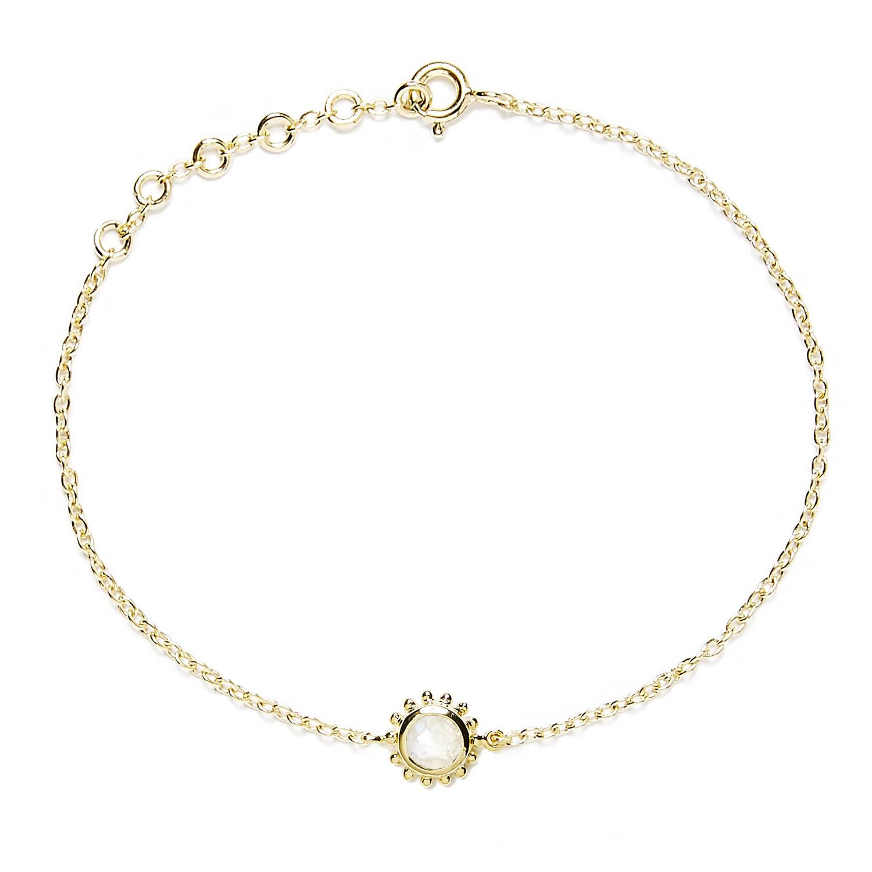 Bracelet Vermeil Pierre et Soleil Agnes de Verneuil