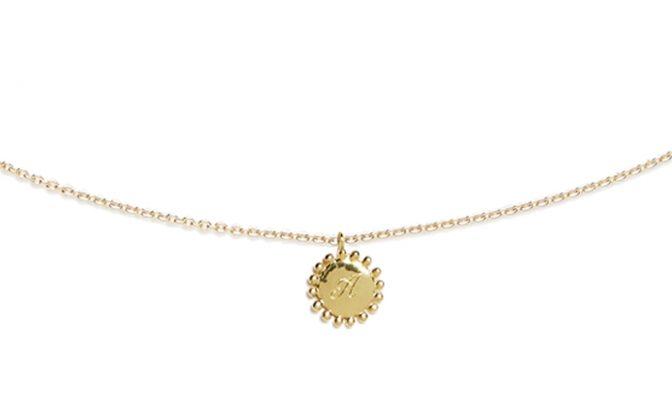 Medaille gravee vermeil bijoux agnes de verneuil