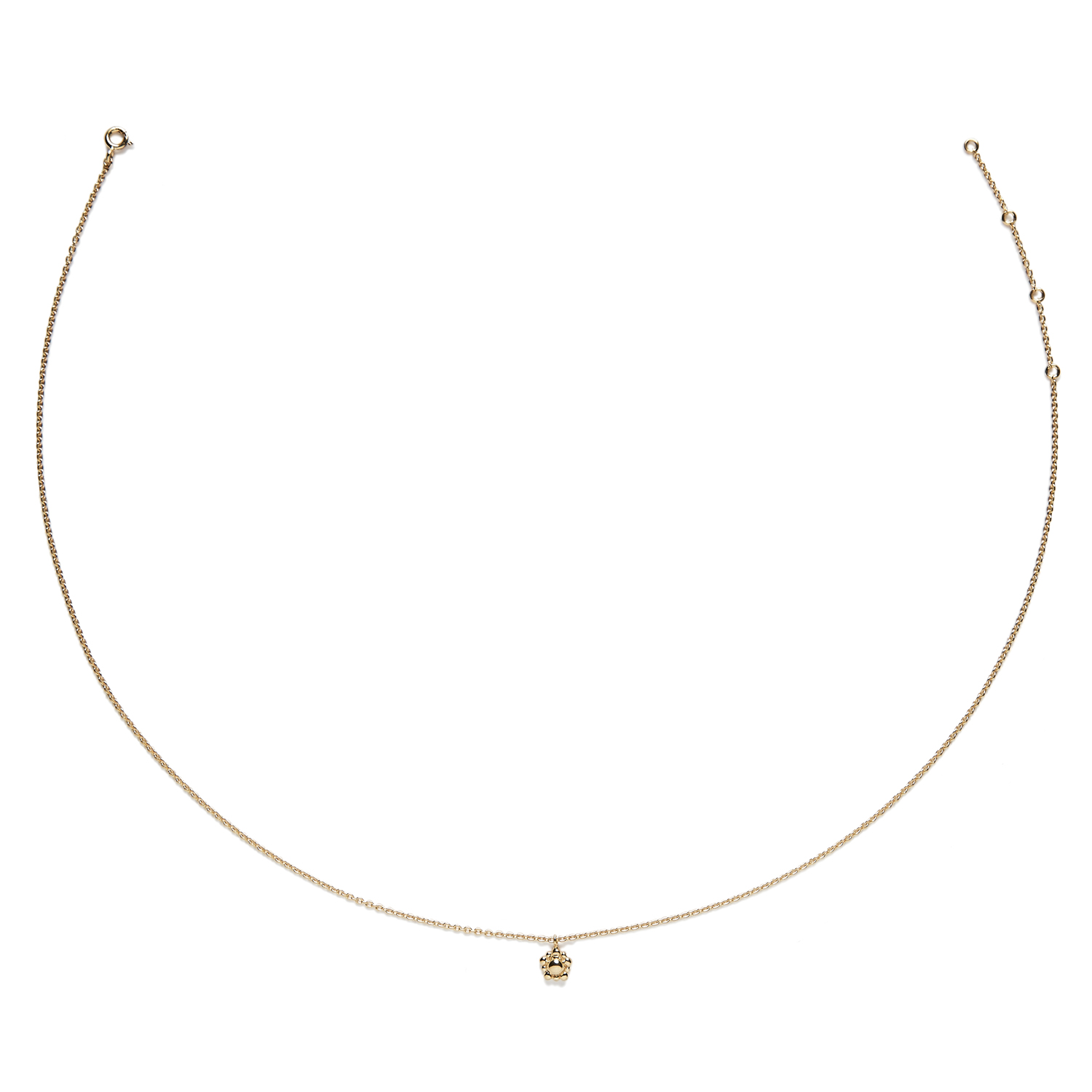 Collier Bouton d'or