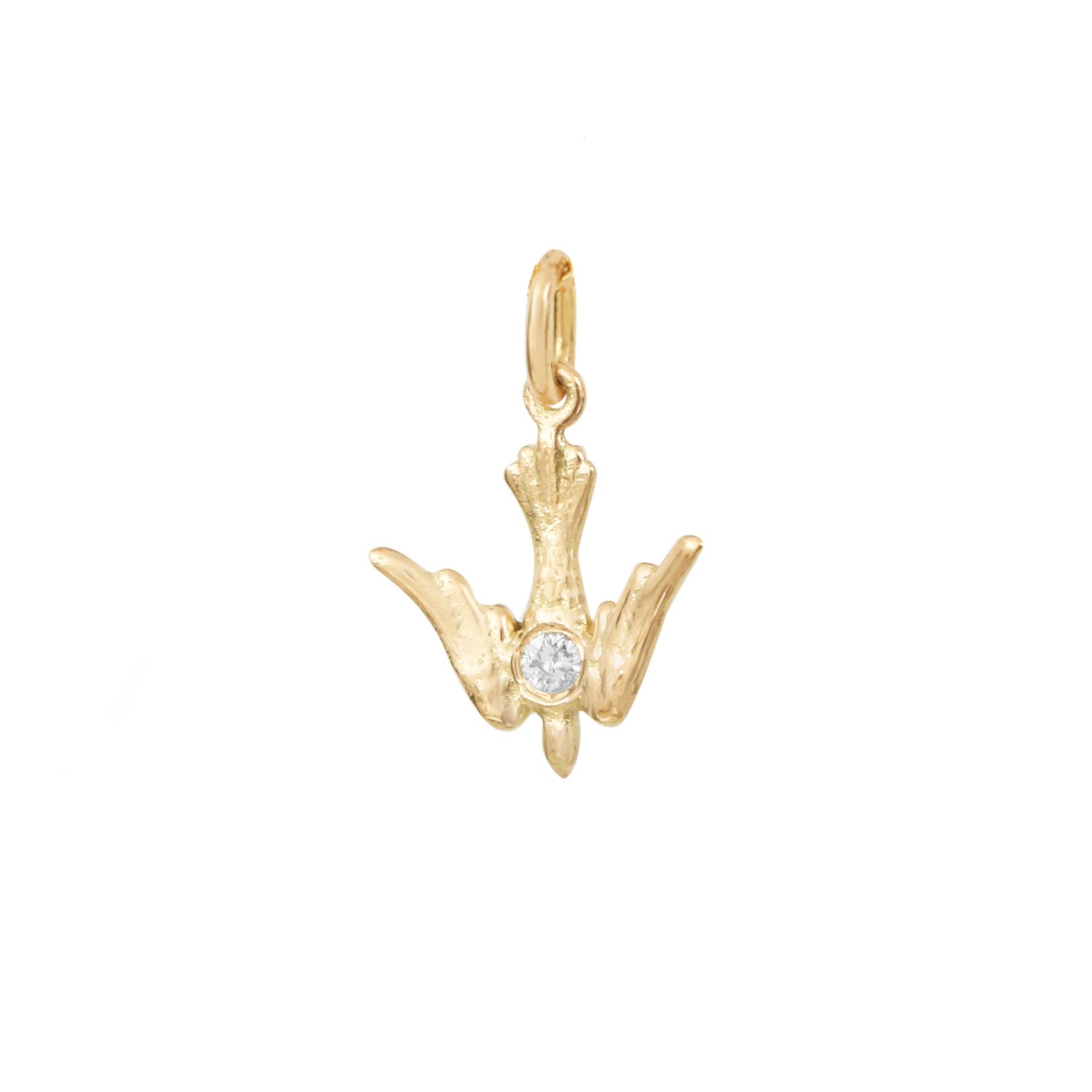 Petit Pendentif My Holy Bird Diamant