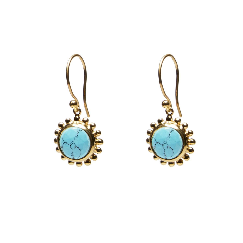 Boucles d'oreille pendentif Turquoise Agnès de Verneuil