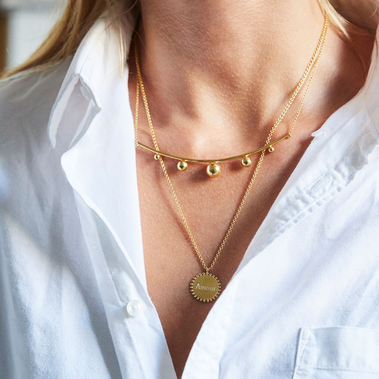 Grand Collier Torque Louise MEDAILLE
