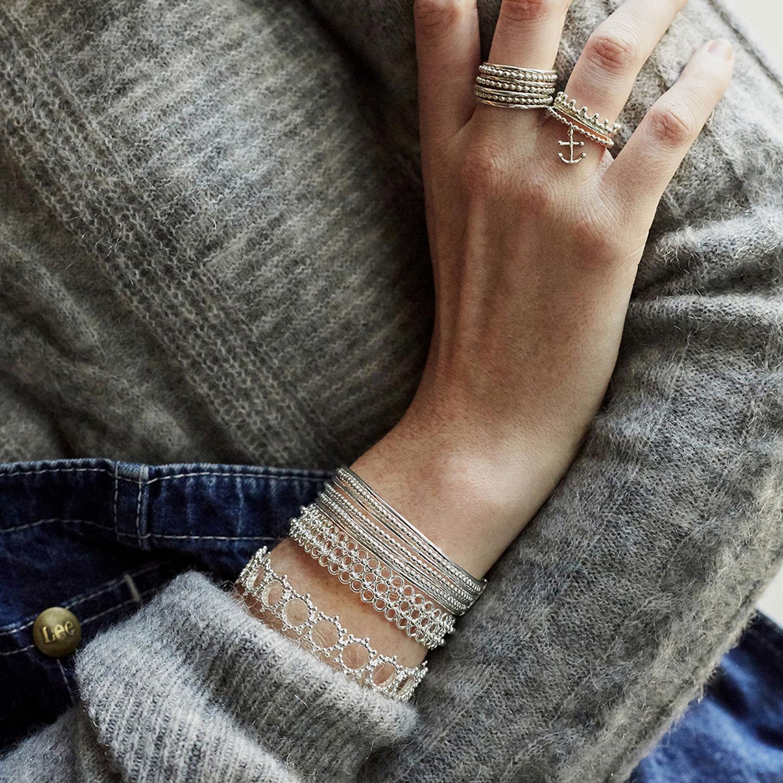 Bracelets-manchettes-argent-mix