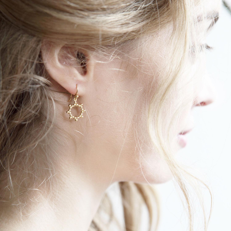 Dormeuses-Soleil-vermeil-Boucles-d-oreilles