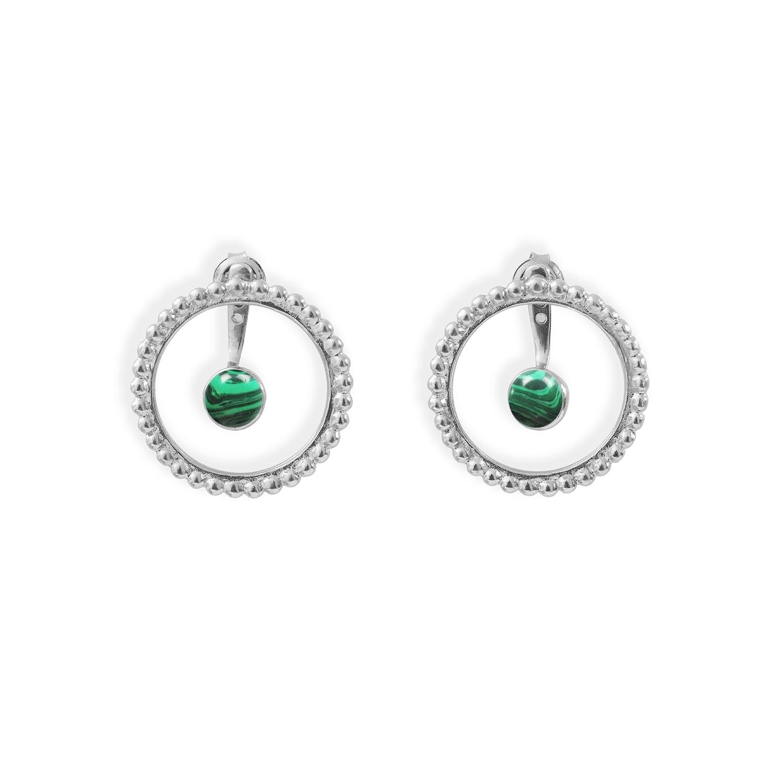 Boucles-cercles-de-perles-et-pierres-argent-malachite