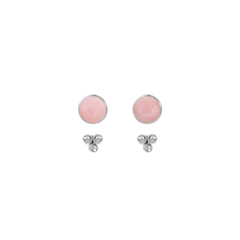 Puces-pierres-et-dessous-d-oreilles-trois-perles-argent-opale-rose