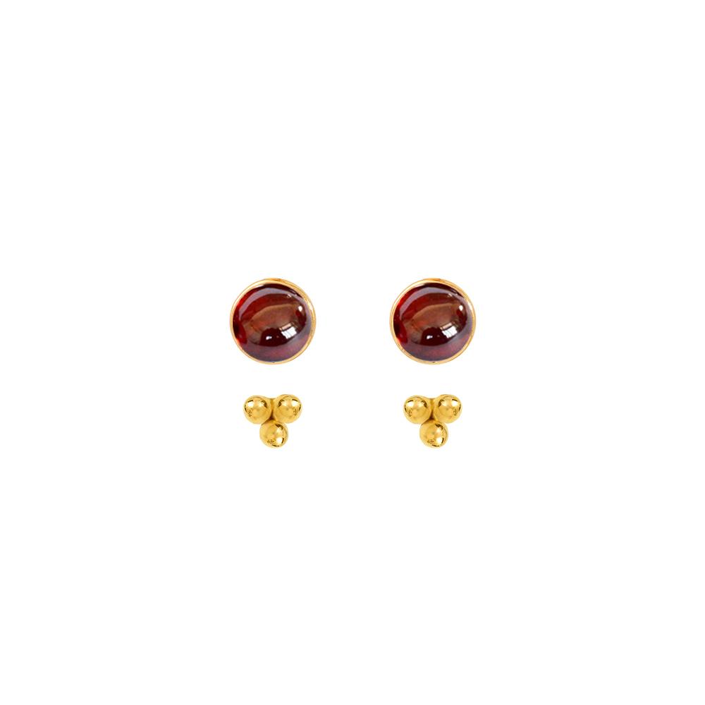 Puces-pierres-et-dessous-d-oreilles-trois-perles-vermeil-grenat