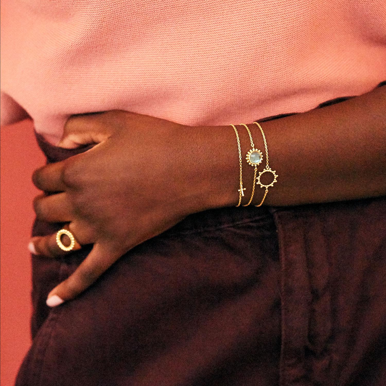 Bracelet Soleil Vermeil Agnes de Verneuil
