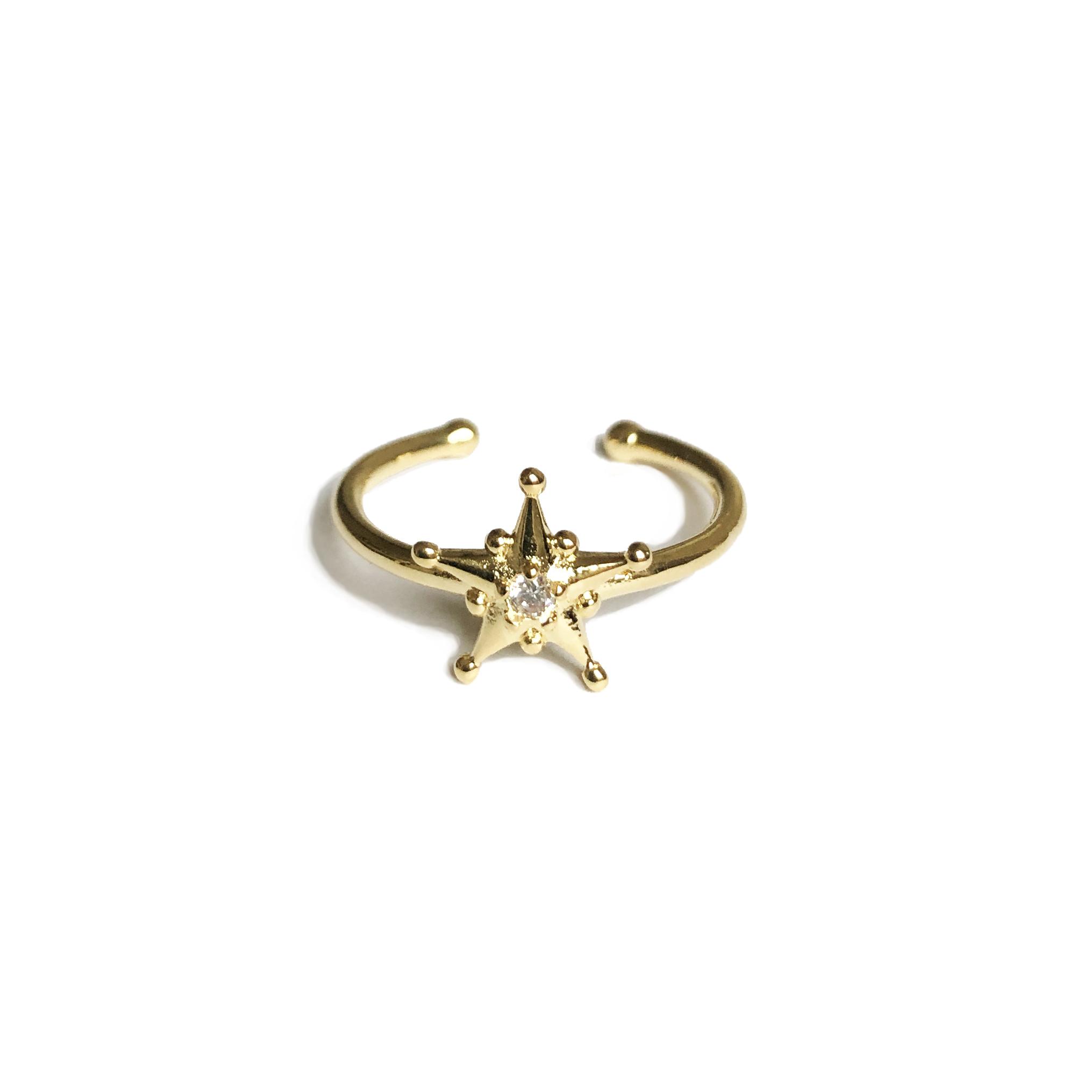 Bague-Orion-étoile-Zircon-Plaque-or-Agnes-de-Verneuil