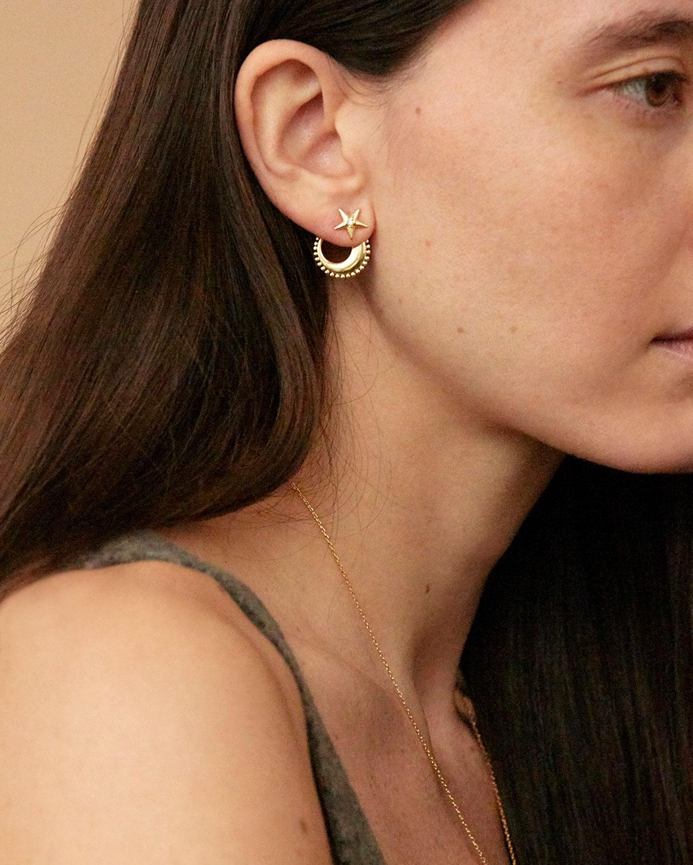 Boucles d oreilles Moonstar Lune Etoile Agnes de Verneuil