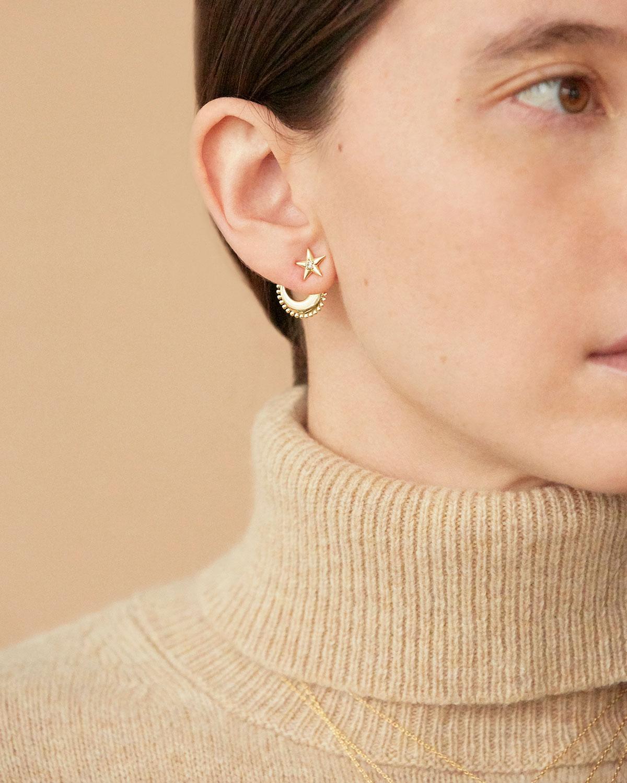 Boucles d oreilles Moonstar Zircon Agnes de Verneuil