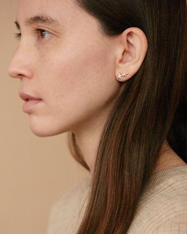 Boucles d oreilles Orion Zircon Agnes de Verneuil