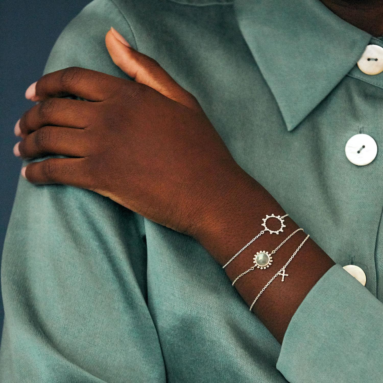 Bracelet Croix Argent Agnes de Verneuil