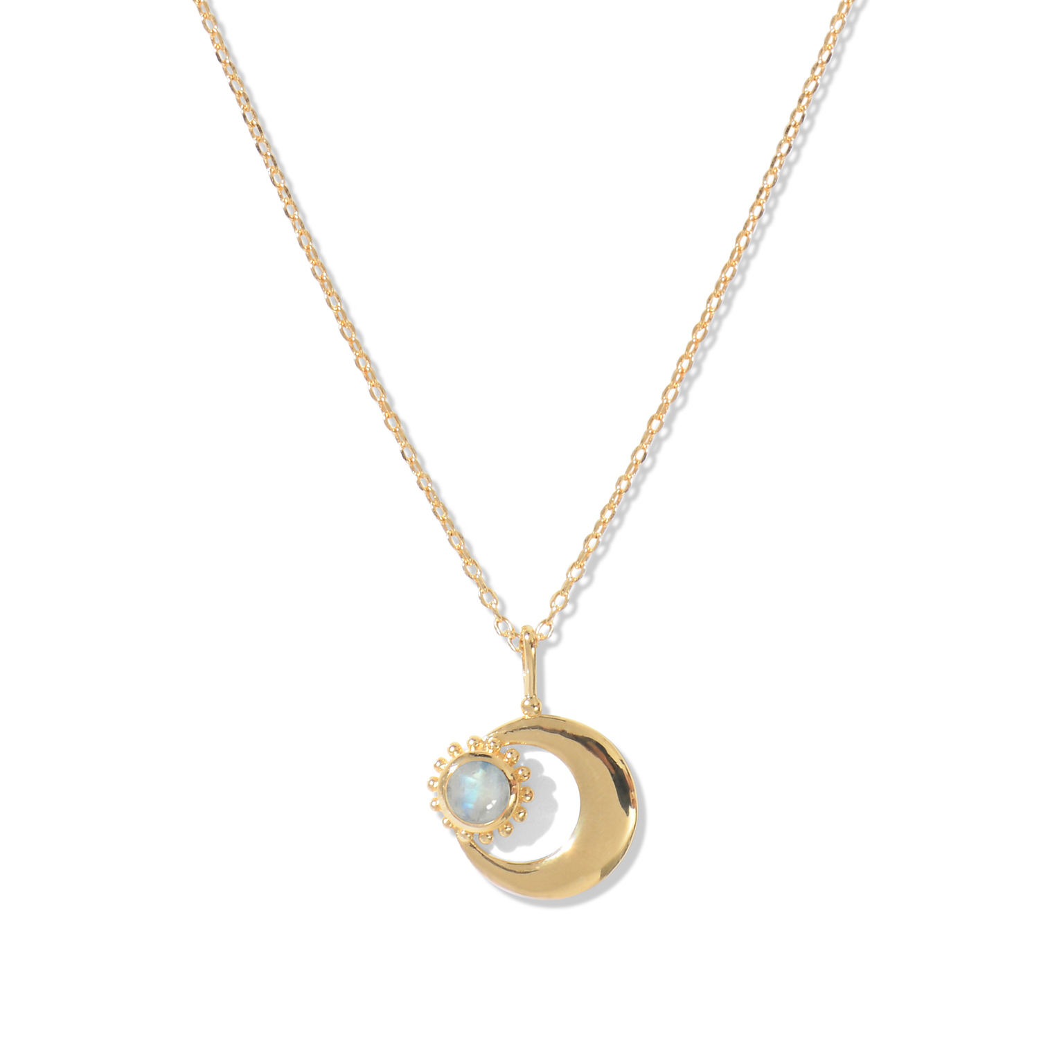 Collier Moon Rainbow Moonstone Agnes de Verneuil
