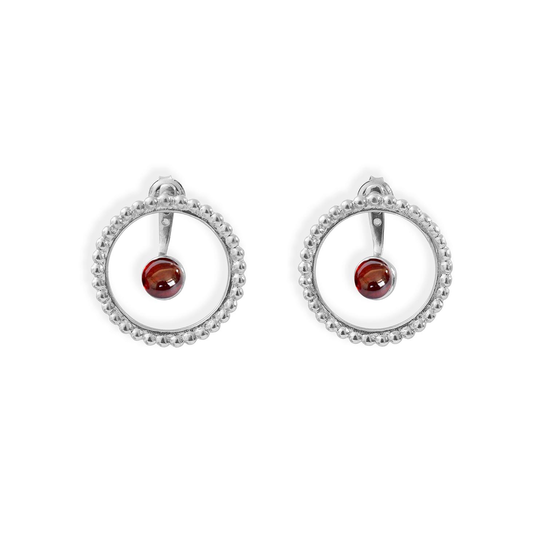 Boucles-cercles-de-perles-et-pierres-argent-grenat