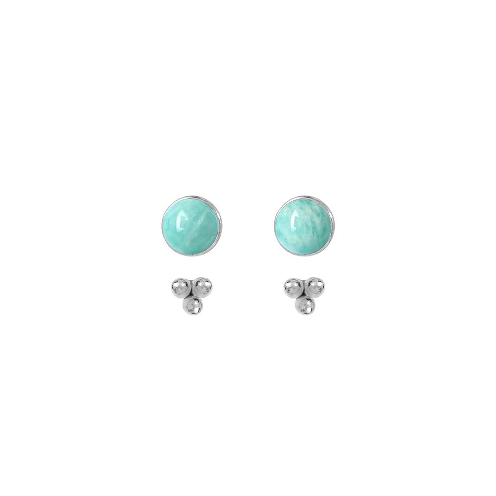 Puces-pierres-et-dessous-d-oreilles-trois-perles-argent-amazonite