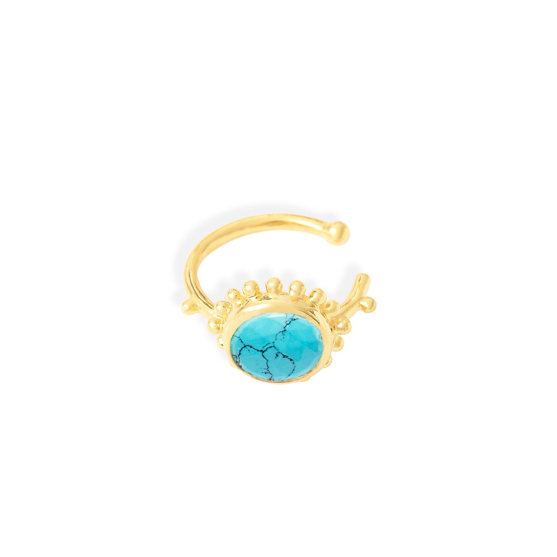 Anneau-oreille-soleil-Vermeil-Turquoise